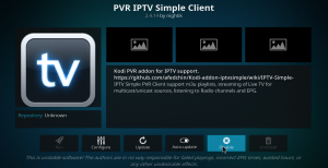PVR Simple Client Main Screen